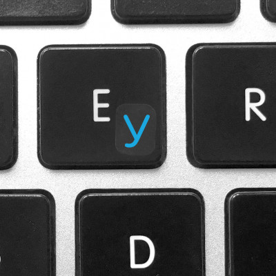 install ru keyboard stickers blue