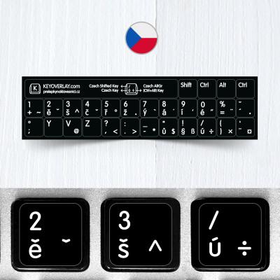 Czech non transparent keyboard stickers (short version)