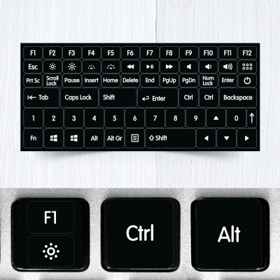 function modifier keys keyboard stickers new