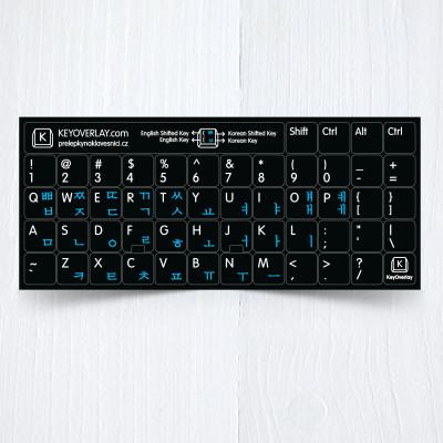 Korean US keyboad blue