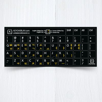 Korean US keyboad yellow