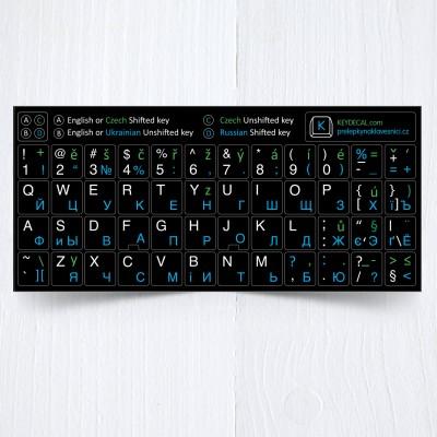 6be30861d30 Russian Czech English Ukrainian alphabets keyboard stickers – 4 in 1