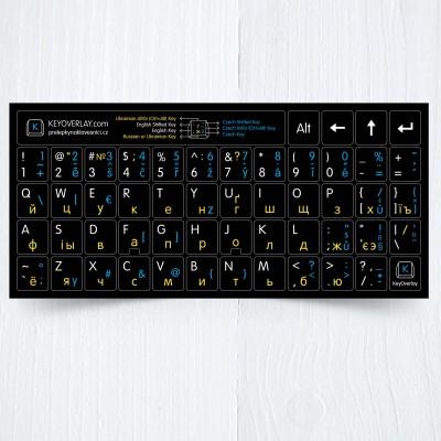 Czech Russian Ukranian US keyboard