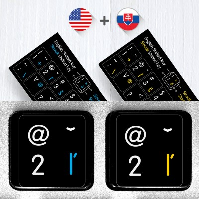 Slovak & English non transparent keyboard stickers