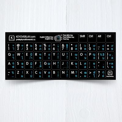 Thai US black keyboad stickers
