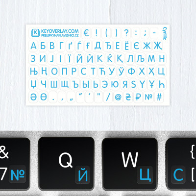 t cyrilic keyboard stickers blue