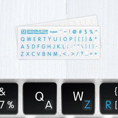 English Alphabet and Punctuation Symbols – Small Keyboard Transparent Stickers