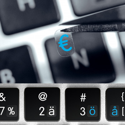 Universal small keyboard stickers – All GERMANIC scripts in one