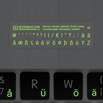 t german keyboard stickers lumino