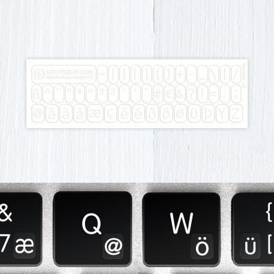 t german keyboard stickers white
