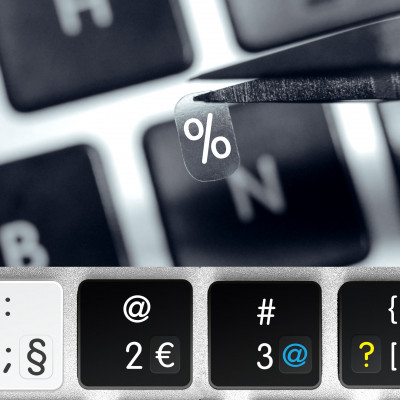 Punctuation, Mathematical Characters and Numbers – Transparent Keyboard Sticker