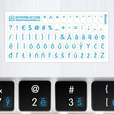 t czech keyboard blue new