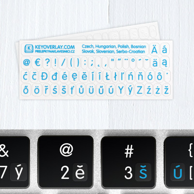 Universal keyboard stickers – All West Slavic languages (including Punctuation Symbols)