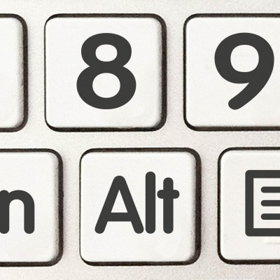 Install big number keyboard stickers
